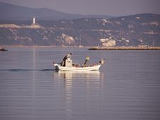 Free Fisherman In Boat Royalty Free Stock Photos - 5259348