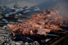 Free BBQ (kebab) Cooking Royalty Free Stock Images - 5259529
