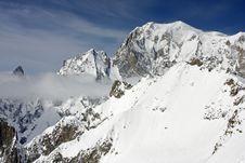 Alpine Peaks  1 - Mont Blanc Stock Photo