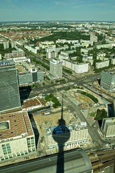 Berlin From TV Tower Royalty Free Stock Image