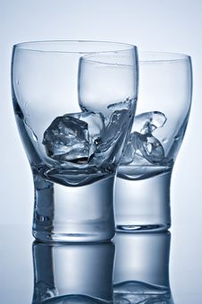 Free Two Glasses With Ice Stock Photo - 5259760