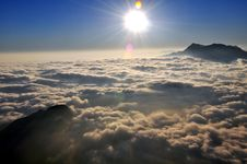 The Ocean Of Clouds Royalty Free Stock Image