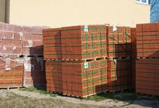 Stacks Of Bricks For The Construction Stock Photography
