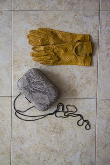 Free Yellow Gloves Vertical Stock Photography - 52577482