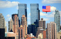 Free The Mid-town Manhattan Skyline Royalty Free Stock Image - 5267416