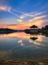 Free Sunset Over Lake Pavilion Royalty Free Stock Photos - 5269648