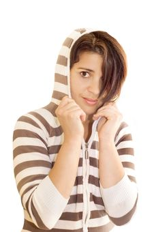 Free Woman Wearing Hooded Top Stock Photos - 5260643