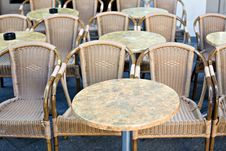 Empty Wicker Chairs Stock Photography