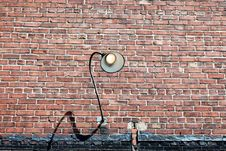 Free Brick Lamp Stock Photo - 5261240