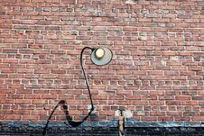Free Brick Lamp Stock Photo - 5261240