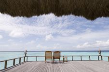 Free Maldives Seascape Royalty Free Stock Images - 5261979