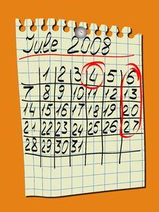 Free Calendar Stock Images - 5262844