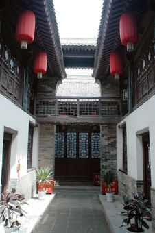 Free Chinese Courtyard Royalty Free Stock Photography - 5262997