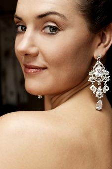 Free Bride Earring Royalty Free Stock Images - 5263319