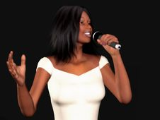 Free Black Woman Singing Royalty Free Stock Photo - 5263655