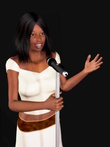 Black Woman Singing Royalty Free Stock Photos