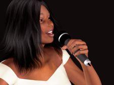 Black Woman Singing Stock Photography