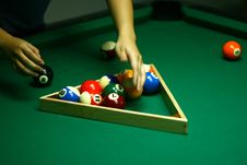 Free 9-Ball Rack Of Billiard Balls Stock Photography - 5264342