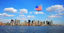 Free The Lower Manhattan Skyline Royalty Free Stock Photo - 5264435