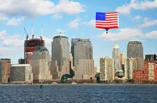 Free The Lower Manhattan Skyline Royalty Free Stock Photos - 5264438