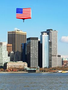 Free The Lower Manhattan Skyline Royalty Free Stock Photos - 5264468