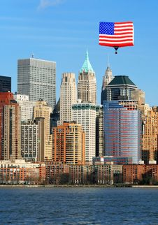 Free The Lower Manhattan Skyline Stock Photography - 5264472