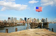 Free The Lower Manhattan Skyline Royalty Free Stock Photo - 5264495
