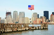 Free The Lower Manhattan Skyline Stock Image - 5264501