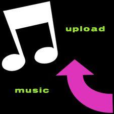 Free Upload Music Symbols Royalty Free Stock Images - 5264769