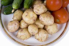 Free Potato And Tomatoes Stock Photography - 5264872