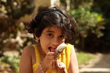 Free Licking The Ice-cream Royalty Free Stock Photos - 5265048