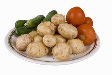 Free Potato And Tomatoes 2 Royalty Free Stock Image - 5265136