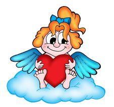Free Angel With Heart Royalty Free Stock Photos - 5265168