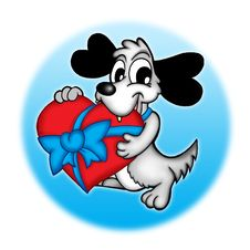 Free Dog With Heart Stock Photography - 5265702