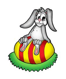 Free Easter Bunny On Egg Stock Images - 5265714