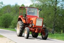 Free Poland Farmer In Tractor Royalty Free Stock Image - 5265776