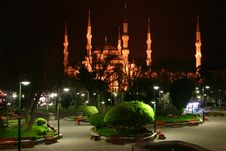 Free Blue Mosque Night View Stock Photography - 5265802