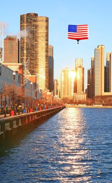Free The High-rise Buildings In Chicago Royalty Free Stock Photo - 5265825