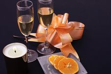 Free Wine And Orange Stock Image - 5265841