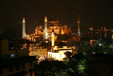 Free Hagia Sophia Night View Royalty Free Stock Photo - 5265925