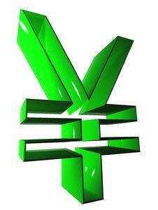 Free 004 Symbol 3D At 9000 Green Royalty Free Stock Image - 5266106