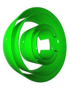 Free 006 Symbol 3D At 9000 Green Royalty Free Stock Photography - 5266167
