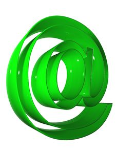 Free 010 Symbol 3D At 9000 Green Royalty Free Stock Photos - 5266338