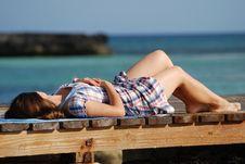 Free Sleeping On A Promenade Stock Photo - 5266740