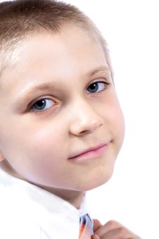 Free Close Up Of Little Boy. Stock Image - 5267021
