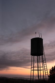 Water Tank At Dawn Royalty Free Stock Photo