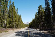 Mountain, Highway And Forests Royalty Free Stock Image