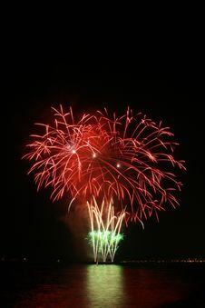 Red Flower Bouquet Fireworks Royalty Free Stock Images
