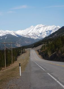 Rocky Mountain And Highway Stock Photography
