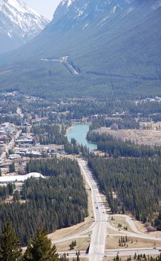 Free Top View Of Banff Town Stock Images - 5267984
